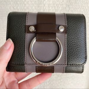 Lancel Paris Wallet Leather Card Holder Ring NWOT